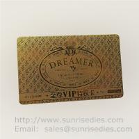 Buy cheap Chemically Etched process metal cards metal page marker bookmars maker product