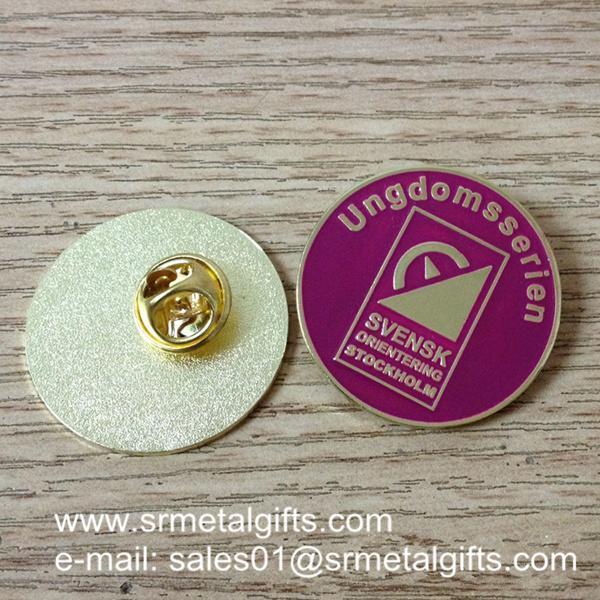 custom enamel colour filled lapel pins