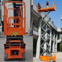 Buy cheap Hydraulic Driven Scissor Lift With Extendable Platform 13.7m Stable Performance product