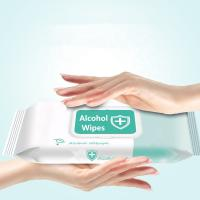 Buy cheap Antibacterial Disinfectant 75% Alcohol Wipes Hand Cleaning Sanitizer product