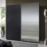 Buy cheap Elegant High Gloss Bedroom Furniture With Half Mirror Soft Sliding Door Wardrobe product