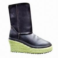 Buy cheap 2013 Fashion Unique Leather Boots for Women, Good-quality Sheepskin Boot, Customized Colors Accepted product