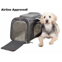 Buy cheap Sturdy Deluxe Pet Travel Carrier Airline Approved Cat Carrier Bag With Mesh Windows product