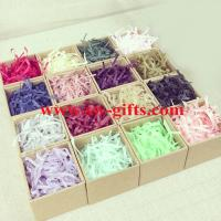 China Hot selling gift tissue paper shredded, crinkle cut paper shred for wrap on sale
