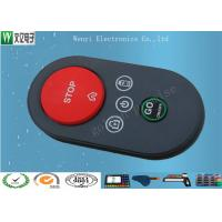 Buy cheap P+R Key  Silicone Rubber Keypad 40 Degree With Spay Oil And Silkscreen Print Customized product