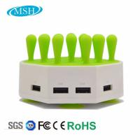 Quality Phone Tablet Multiple USB Charger Station , 4 Ports USB Desktop Charger Station for sale