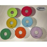 Buy cheap 5 inch Ceramic Bond Dry Diamond Polishing Pads for Concrete high Effective product