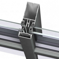 Buy cheap Fully Visible Frame Decoration Curtain Wall Extruded Aluminum Profile product