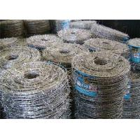 Buy cheap Weave Galvanized Stainless Steel Barbed Wire For Grass Boundary / Railway product