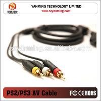 China gold plated component 3RCA AV cable for PS1 PS2 PS3 on sale