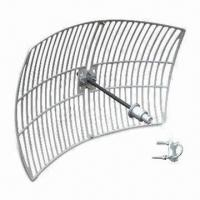 Buy cheap 5.7 to 5.8GHz Grid Wireless Antenna with 30dB Gain for N Jack product