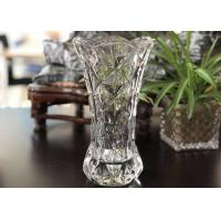 Buy cheap 25cm Height Transparent Clear Glass Vases Machine Made Desktop In Stock product