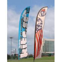 Buy cheap Trade Show Feather Flags Banner , Swooper Flag Feather Fly Knitted Polyester product