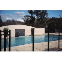 Buy cheap Golden Bronze Modern Flat Top Glass Pool Fencing 8mm - 19mm Toughened Safety Glass product