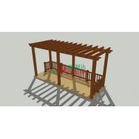 Buy cheap Prefabricated Beautiful Wood Plastic Composite Pergola 6m X 2.5m UV Resistance product