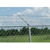 Buy cheap Prison ContinuousTwist Galvanized Barbed Wire with Chain Link Fence product
