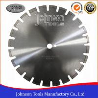 Buy cheap 400mm Laser Welded Diamond Blades , Dry Wet Saw Blades For Highway / Road Works product