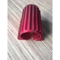 Buy cheap Red Colour Anodized Aluminum Extrusions Motor Housing With Tapping And Drilling product