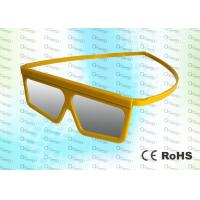 Buy cheap Yellow Framed Linear Polarized Imax Polarized Glasses 3D MOVIES / 4D CINEMA / 3D THEATRE product