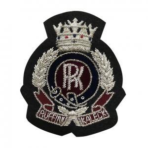 Hand Made Embroidered Bullion Blazer Badges , Military