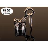 Buy cheap Balnk Custom Metal Keyrings / Zinc Alloy Piston Keychain Silver Plunger product