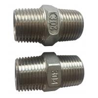 Buy cheap 4 Stainless Steel Pipe Fitting , Hexagon Nippl BSPT  NPT JIS Thread product
