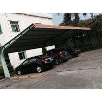 Buy cheap 4 sets Small Cars Parking Shed Garage Steel Frame With Red Arc Shape Roof Top from wholesalers
