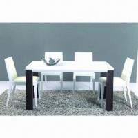 Buy cheap Dining Table with MDF, Glossy Paint and Walnut product