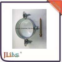 Buy cheap Galvanised Steel 0.7mm - 1.2mm Pipe Saddle Clamp With Riveted Nut product