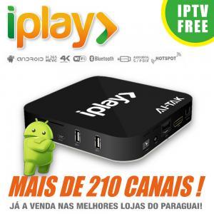 Quality HDMI 2.0 Brazilian IPTV Box Brasil , Iplay Portuguese TV Box No Time Limited for sale