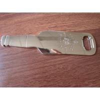 Buy cheap Cheap engraved logo beer bottle shaped bottle opener, zinc alloy, China factory, product