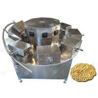 Buy cheap Italian Waffle Cookies Baking Machine , Pizzelle Maker Machine 1200PCS / H from wholesalers