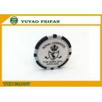 Buy cheap PS / Ssilver Casino Customized Poker Chips Single Logo Sticker product