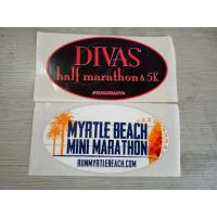 Buy cheap Safe Glossy Varnish Custom Waterproof Stickers For Decoration , Logo Printed product