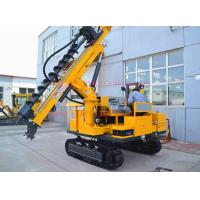 Buy cheap 50M depth hydraulic photovoltaic pile hole drilling rig , Crawler mounted SOLAR from wholesalers