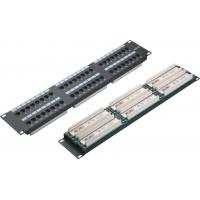 Buy cheap UTP 48 Port Patch Panel 2U AMP Type Cat5e Patch Panels for Computer Center YH4015 product