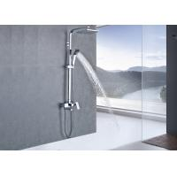 Buy cheap Chrome Temp Control Rainfall Shower Set , Bathroom Shower Systems Water Powered product