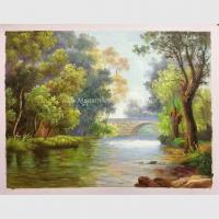 Buy cheap Abstract Original Oil Landscape Paintings / Oak Green Tree Oil Painting On from wholesalers
