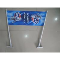 Buy cheap Double Sides Shop Front Flags , End Sign Flags 80cm Length Pole product