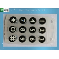 Buy cheap Conductive Carbon Pill Printed 45 Degree Silicone Rubber Keypad 12 Keys product