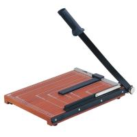 Quality Wooden Base Guillotine Manual Paper Cutter 12 Sheets Cutting Capacity for sale
