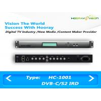 Buy cheap Single Tunner Proferrsional IRD Satellite Receiver 2 CAM Slot For Descrambler product