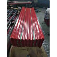 Buy cheap High Hardness Galvanized Steel Roofing Sheet , Durable Steel Roof Sheets product