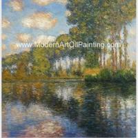 Buy cheap Franmed Claude Monet River Paintings , Nature Landscape Painting Canvas from wholesalers