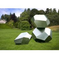 Buy cheap Stainless Steel Garden Sculptures Sandblasting Square Decoration product