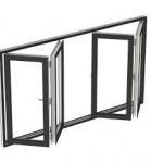 Buy cheap tempered glass folding accordion window manufacturer guangzhou bifold window product