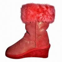 Buy cheap 2013 Ladies' Fashion Genuine Leather Boots/Elevator Shoes, High Quality, Customized Colors Accepted product
