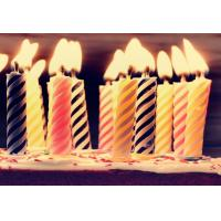 Buy cheap Decorative Spiral Birthday Candles , Funny Smelless Twisted Birthday Candles product