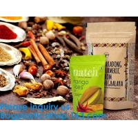 China SIDE GUSSET COFFEE BAGS,STAND UP COFFEE BAGS,KRAFT PAPER COFFEE BAGS Foil Zip Lock Stand Up Food Pouches Bags with Notch on sale