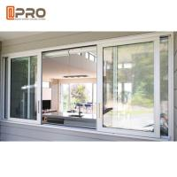 Buy cheap Custom Made Double Glazed Aluminium Sliding Windows Horizontal Opening Pattern product